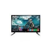 TV 32' LED Philco PH32C10DSGWA HD Smart Tv Função MIDIACAST Sistema GINGA DNR Entradas HDMI 2 e USB 2
