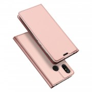 DUX DUCIS Skin Pro Series Card Holder Stand Leather Mobile Case for Xiaomi Mi A2 Lite / Redmi 6 Pro - Rose Gold