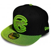 Boné New Era Chicago Cubs Black & Green - 7 1/4 - M