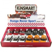 12 pcs in Box: 5 Range Rover Sport SUV 1:38 Scale (Black/Orange/Red/Silver)