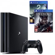 Конзола Playstation 4 PRO, 4K, 1ТВ, Sony PS4 Pro+Игра Destiny 2 за PlayStation 4+Игра Dishonored: Death of the Outsider