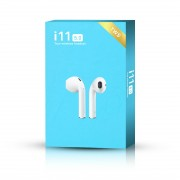 Auscultadores HF Bluetooth i11 5.0 TWS Touch branco