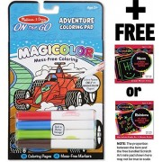 Adventure Coloring Pad: On-the-Go Series + FREE Melissa & Doug Scratch Art Mini-Pad Bundle (91299)