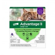 Advantage II Flea Treatment for Large Cats Over 9 lbs, 2 treatments