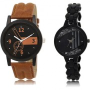 The Shopoholic Black Brown Combo Fashionable Funky Look Black And Brown Dial Analog Watch For Boys And Girls Watches For Men