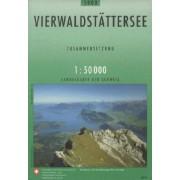 Wandelkaart - Topografische kaart 5008 Vierwaldstätter See   Swisstopo