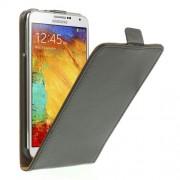 Кожен калъф с вертикално отваряне за Samsung Galaxy Note 3 Neo - черен