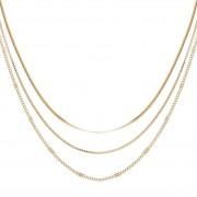 Zag Bijoux Collier triple chaînes (doré), Zag bijoux Zag Bijoux