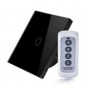 Intrerupator RF cu touch, panou de sticla si telecomanda