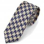 Tailor Toki Mosaik Krawatte In Blau & Creme