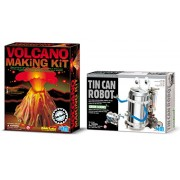 4M Volcano Making Kit with Tin Can Robot