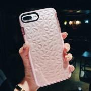 EW Funda de teléfono móvil 3D Diamond TPU Transparente para iPhone 8 Plus
