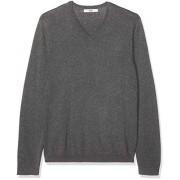 find. Marca de Amazon. Suéter de algodón con Cuello en V para Hombre, Grey (Charcoal Grey Marl), XL (US L XL)