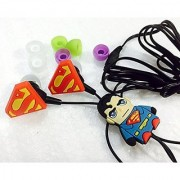 Superman In-ear Headphones for All Mobile Phone Mp3 and Laptops 3.5mm Earphones Quality Sound Includes 3 Additional Ear