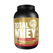 Total whey proteína sabor morango 1kg - Gold Nutrition