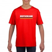 Shoppartners Rood Duitsland supporter t-shirt voor kinderen