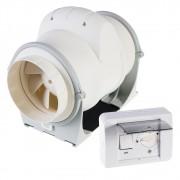 Pachet Promo: Ventilator ELICENT AXM 125 de tubulatura + Regulator de viteza Elicent R10
