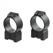 Warne Mfg. Company Maxima Grooved Receiver Line Tikka Rings - 30mm High Matte Black Tikka Rings
