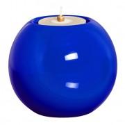 Castiçal M em Cerâmica 12 cm Azul Mazzoti