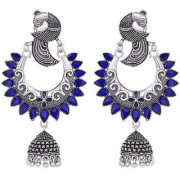 Desire Collection Presents Peacock Design German Silver Earrings for Pretty Girls And Women Stylish and Trendy Earring