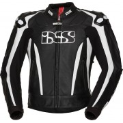 IXS X-Sport LD RS-1000 Motorcycle Leather Jacket Black White 50