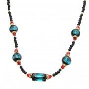 Saori ベネチアン風ガラス ネックレス【QVC】40代・50代レディースファッション