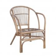 Set de 2 scaune design rustic Rattan II, maro