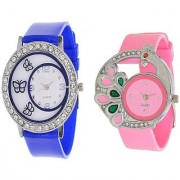 STAR Fashion Casual Multicolour Combo of 2 Watches for Women and Girls