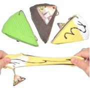 Squishy Cheese Cake Chocolate Green Tea stretchy Stress Toy With Original Packing Gift Chain