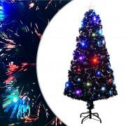 vidaXL Изкуствено коледно дърво със стойка/LED, 150 см, 170 клончета