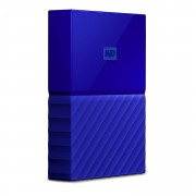 Western Digital WD My Passport WDBYFT0040BBL - Disco rígido - encriptado - 4 TB - externa (portátil) - USB 3.0 - 256-bits AES - azul