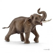 Schleich Asian Elephant Male, Multi Color