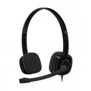 HEADPHONES, LOGITECH H151 – EMEA Stereo, One Plug, HEADSET (981-000589)