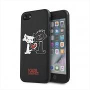 Karl Lagerfeld iPhone 7/8 SE 2020 hardcase black Choupette in love Karl Lagerfeld