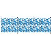 Yello windscherm Hibiscus 5 palen 120 x 392 cm blauw/groen
