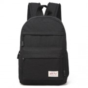 Universal Multi-Function Canvas Cloth Laptop Computer Shoulders Bag Leisurely Backpack Students Bag Size: 36x25x10cm For 13.3 inch and Below Macbook Samsung Lenovo Sony DELL Alienware CHUWI ASUS HP (Black)