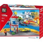 Joc constructie Blocki , Platforma pompieri , 129 piese , Robentoys®