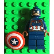 Toys 4 U 7777 LEGO Captain America Minifigure from Avengers - 76051 Super Hero Airport Battle /item# G4W8B-48Q4085