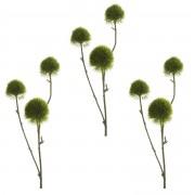 Bellatio flowers & plants 4x stuks groene anjer kunsttakken van 58 cm