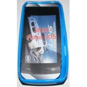 Силиконов гръб ТПУ за Nokia Asha 305 Син