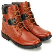 Crown Sapphire High Ankle Lace Up Casual Boots For Men (Tan 6 UK)