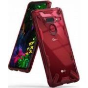 Husa LG G8 ThinQ Ringke FUSION X Transparent Rosu