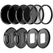 Filter Set 58mm voor GoPro Hero 5 6 7 – Polarisatiefilter, UV filter en ND Filters – 10 Pack