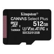 Kingston Canvas Select Plus - Flash-minneskort - 512 GB - A1 /