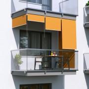 Jarolift Markiza balkonowa pionowa, Pomarańczowa, 180x140cm