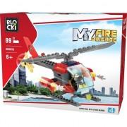 Joc Constructie Blocki - Elicopter Pompieri 89 piese