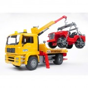 Bruder Tow Truck with Off-Road Vehicle MAN TGA 1:16 02750