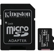 Kingston Canvas Select Plus micro SDXC 64GB Class 10 UHS-I + SD adapter