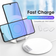 Dual-Coil 10W Wireless Charger Wireless Charging Desktop Stand 7.5W/5W (Support FOD Function)