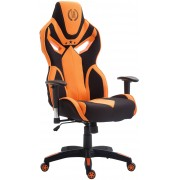 CLP Sedia da ufficio racing Fangio, in tessuto, nero/arancione , nero/arancione, altezza seduta